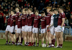 Galway team stand during the national anthem  2/3/2019