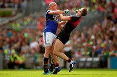 Kieran Donaghy clashes with Aidan O'Shea which resulted in a red card 26/8/2017