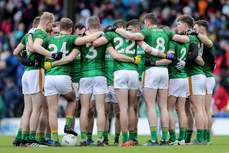 Mayo players huddle ahead of the game 9/2/2020