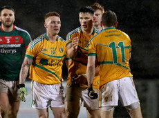 Darren Carberry, James Rooney and Brendan Gallagher after the game ended in a draw 10/1/2018