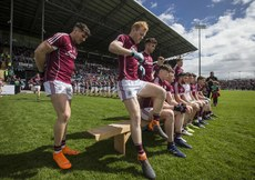 Galway players arrive out for the pre match team photo 13/5/2018