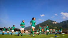 Ireland warm up ahead of the game 7/7/2019