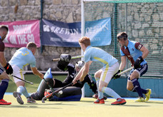 David Kane is unable to stop Conor Empey scoring a goal 21/9/2019