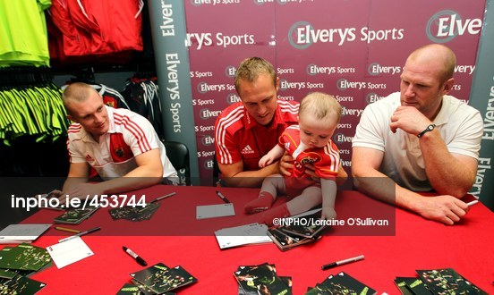 fbaa74716e7fd PHOTO ID: 00453744. EVENT DETAILS. Saturday, Aug 28 2010 - Elverys Sports  Munster Rugby Signing Session