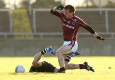 FBD Insurance League 17/1/2010. Galway vs Sligo. Galway\'s Cillin De Paor and Johnny Davy of Sligo. Mandatory Credit ©INPHO/James Crombie