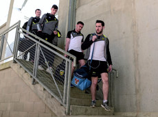 The donegal team arrive 2/4/2017