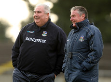 FBD Insurance League 17/1/2010. Galway. Selector Tom Naughton with manager Joe Kernan. Mandatory Credit ©INPHO/James Crombie