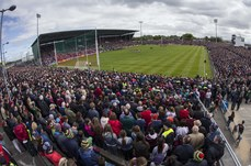 Mayo and Galway stand for the national anthem 13/5/2018