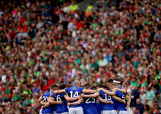 The Kerry team huddle 26/8/2017